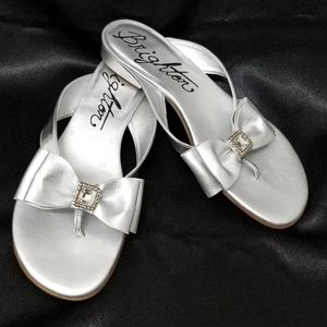 NWT Brighton Nell Rhinestone Leather Sandals 6.5M